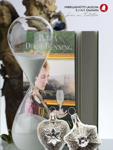 Geschenkidee 'Musestunde' 1 Buch 'Die Glasbläserin', 1 Stundenglas, 2 Altdeutsche Weihnachtskugeln...