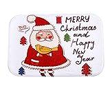 SUNWUKONG Il Nuovo Magro Babbo Natale di Fronte a tappetini Antiscivolo Camera da Letto Moquette casa, 40 * 60cm