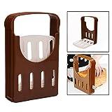 OFKPO Rebanadora de Pan, Manual Máquina para Cortar Sandwich, Tostado, Pastel de Pan, Cocina Guía Tostada Rebanada Herramientas para Hornear