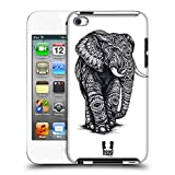 Head Case Designs Elefant Kunstvolle Tierwelt Ruckseite Hülle für Apple iPod Touch 4G 4th Gen