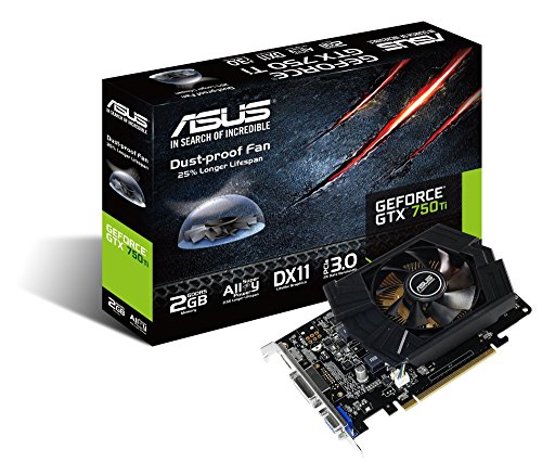 Asus GTX750TI-PH-2GD5 Nvidia GeForce Gaming Grafikkarte (PCIe 3.0 x16, 2GB DDR5 Speicher, HDMI, 2x DVI)