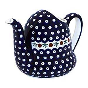 Hand-Decorated Polish Pottery Watering Can (GU595)