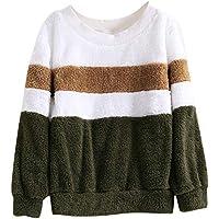 Hanomes Damen pullover, Damen Winter Farbabstimmung Solide Patchwork O Hals Sweatshirt beiläufige Bluse preisvergleich bei billige-tabletten.eu