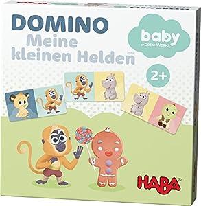 Haba 302896–Domino juego de mesa.–Mis pequeñas Héroes–Dreamworks Babies