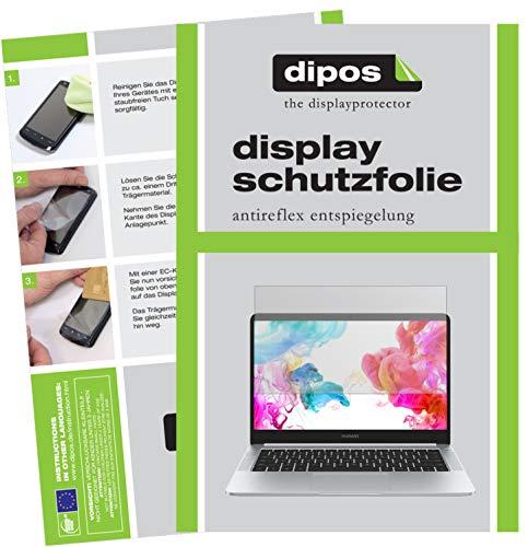 dipos I 2X Schutzfolie matt passend für Huawei MateBook D Folie Bildschirmschutzfolie