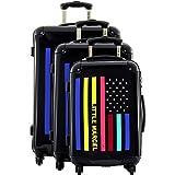 Lot 3 valises dont 1 valise cabine Little Marcel - 4 roulettes - Poignée télescopique - Fermeture éclair