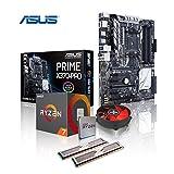 Memory PC Aufrüst-Kit AMD Ryzen 7 1800X AM4 (OctaCore) Summit Ridge 8x 4.0 GHz, 16 GB DDR4 2133Mhz, ASUS PRIME X370-PRO mit Aura Sync/Bleuchtung, USB 3.1 Typ C, SATA3, 7.1 Sound, M.2 Sockel, GigabitLan, MultimediaKIT, komplett fertig montiert und getestet.