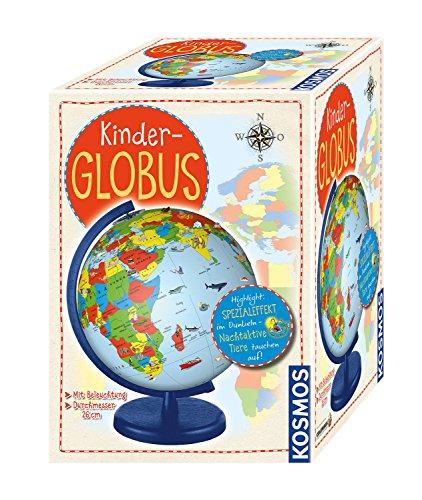 KOSMOS  673024 Kinder-Globus, ab 5 Jahren, mit Beleuchtung, Durchmesser 26 \ncm, Lernspielzeug für Kinder und Deko fürs Kinderzimmer