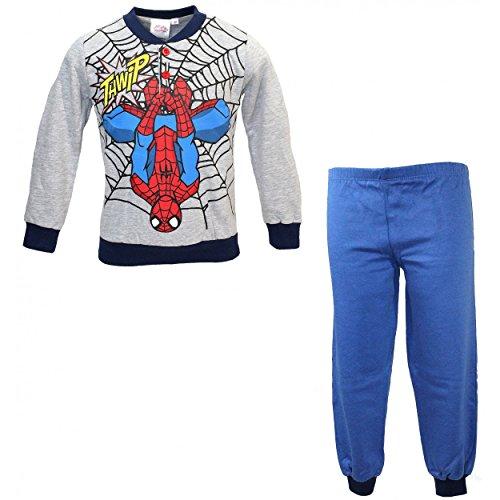 Pigiama bimbo uomo ragno spider man 3-4-5-6-7 anni caldo cotone felpato 16110-3 anni