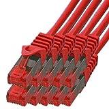 BIGtec - 10 Stück - 0,5m Gigabit Netzwerkkabe...Vergleich