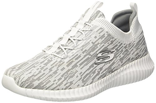 Skechers Herren Dynamight 2.0-Eye to Eye-52642 Slip On Sneaker, Weiß (Weiß/Grey), 46 EU