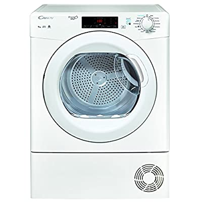 Candy GSVC9TG 9kg Condenser Tumble Dryer - White White / Brand New with 1 Year Labour 10 Year Parts Warranty from Candy