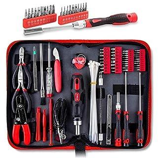 HiSpec 73-teiliges IT, Computer, Tablet, Mobiltelefon und Elektronik Wartungs- und Reparatur-Werkzeug-Set in Aufbewahrungsetui mit Reißverschluss