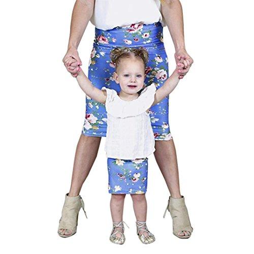 e,Familie Mama und Tochter Kleinkind Kinder Floral Baby Mädchen Rock Schlank Party Bleistiftrock Partnerlook Familie Kurze Röcke Bleistift Röcke (2T, Kind) (Kleinkind 2t Größentabelle)