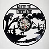 Txyang Yellowstone National Park Vinyl Record Wall Clock Decor - Exciting Guest Room Decor