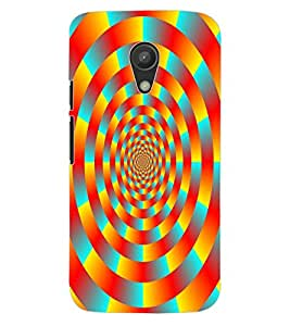 ColourCraft Lovely Colourful Pattern Design Back Case Cover for MOTOROLA MOTO G2