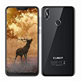 CUBOT P20 2018 4G Smartphone ohne Vertrag, 6.18'' 19:9 FHD+ Display mit Notch, Android 8.0, Octa-Core MTK6750T, 4GB/64GB, 4000mAh, Dual Rückkameras, Dual SIM, Fingerabdruckerkennung (Schwarz)