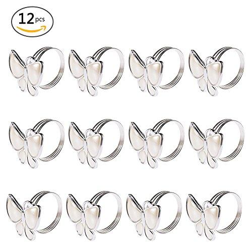Schmetterlings-tisch-set (12 Stück Serviettenringe Set, Schmetterlings Morderne Serviettenhalter für Hochzeit Taufe Geburtstag Kommunion Graduierung bankett oder Verschiedene Anlässe Weihnachten Taufe Tisch Dekoration)