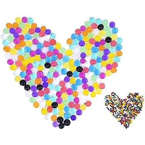 eBoot 12 Colores 2400 Piezas Granos Cristalinos de Gel de Agua Jalea de la Perla del Agua Llenador del Florero, 24