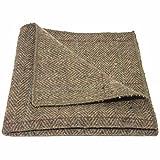 Luxuriöses Braunes Tweed-Einstecktuch mit Fischgrätenmuster