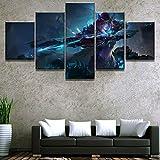 5 Stück Leinwand Kunst Warcraft Sylvanas Dekorative Bild Gemälde auf Leinwand Wandkunst für Hauptdekorationen Wanddekor Artwork,A,30×50×2+30×70×2+30×80×1