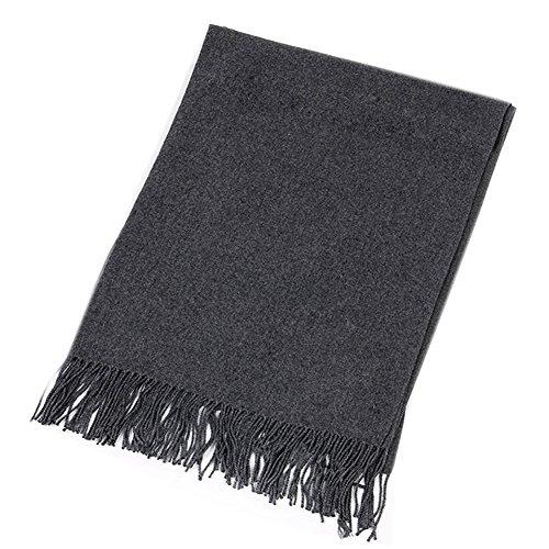 MIJIU Moda morbido sciarpe inverno caldo grande scialle sciarpa in Pile dell'involucro (Dark (Knit Poncho Modello)