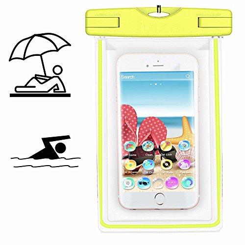 Smartphone Schutzhülle | Mobiwire Taima | Wasserdichte | Staubdichte Handy Beachbag | HBB Gelb
