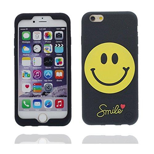"""Apple iPhone 6 Plus Coque, étui iPhone 6s Plus 5.5"""", [ TPU durable flexible 3D Smiley ] iPhone 6 Plus Case (5.5 pouces), Gold Egg anti-chocs, des empreintes digitales, les égratignures # 1"""