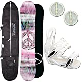 DAMEN SNOWBOARD SET TRANS LTD GIRL 147 CM 2018 + ELFGEN TEAM BINDUNG