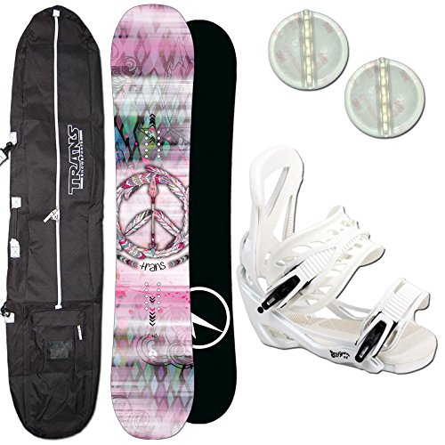 Rocker Pad (DAMEN SNOWBOARD SET TRANS LTD GIRL 147 CM 2018 + ELFGEN TEAM BINDUNG GR. M + PAD)