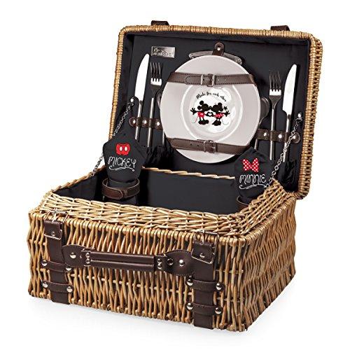 Disney Classics Mickey und Minnie Maus Champion Picknick Korb mit Deluxe Service für zwei