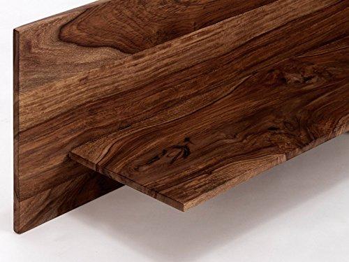 massivum Regal Palison 130x35x25 cm Palisander braun lackiert