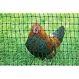 grüner Gartenzaun 50 m x 112 cm Hühnerzaun + 14 Pfähle Hühner-Zaun Geflügelzaun Garten