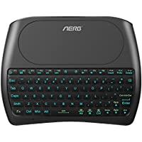Aerb Mini Wireless Keyboard with Touch Pad Mouse 2.4GHz Backlit Rechargeable Multi-Media Handheld Remote for Android TV BOX, HTPC, Smart TV, Laptop/PC, Raspberry PI