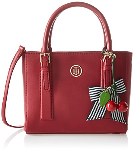 Tommy Hilfiger Cherry Small, Sac Femme, 9x20x24 cm Multicolore (Scooter Red Mix)