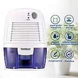 Yorbay Luftentfeuchter(500ml Wassertank,250 pro Tag,Raumgröße ca.10-15 m²)elektrisch Raumentfeuchter gegen Feuchtigkeit , für Schlafzimmer, Wohnzimmer, Keller, Garage usw - 3
