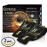 Grsta Bracelet magnétique avec 15 des aimants forts pour Les vis de Maintien, Clous, trépans de Forage - Best Tool Cadeau pour Bricoleur Handyman, Hommes, Femmes (Camo-2 Paquets)