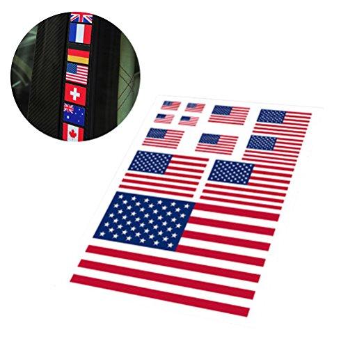 BESTOYARD Amerikanische Flagge Aufkleber patriotischen Aufkleber USA Aufkleber für Vinyl Auto Aufkleber Aufkleber (quadratische Form)