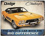 Kristall Art Zeichen der Zeit Dodge Challenger Metall Schild, 30,5x 38,1cm