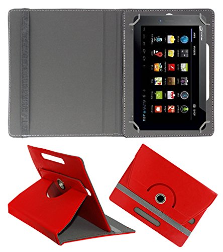 Acm Rotating 360° Leather Flip Case For Micromax Funbook Talk P360 Tablet Cover Stand Red  available at amazon for Rs.149