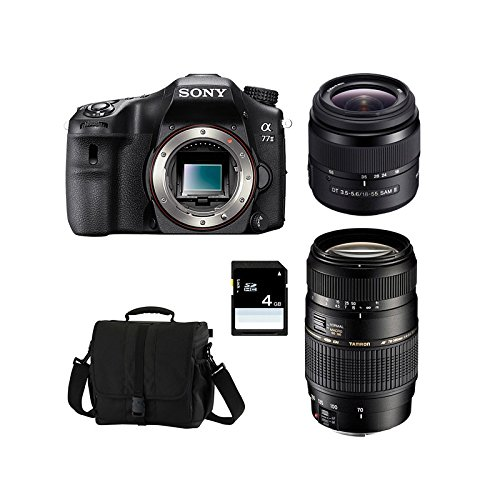 SONY Alpha 77 II + 18-55 SAM + TAMRON 70-300 + Sac + Carte SD 4 Go