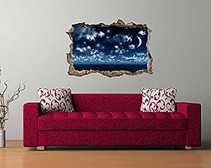 wandsticker nachthimmel in 3d optik f r einen tollen effekt achtung neues material bs290. Black Bedroom Furniture Sets. Home Design Ideas