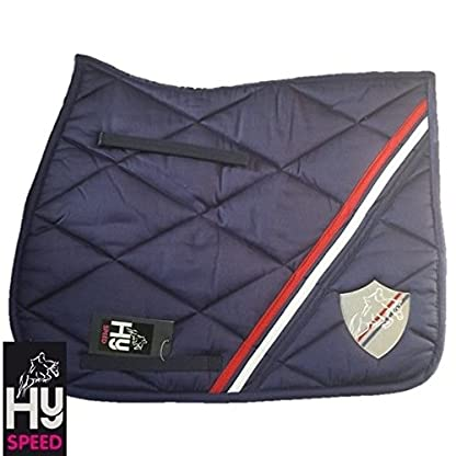HySPEED Universal Saddle Cloth Navy/Red/White Cob/Full Horse Numnahs 1