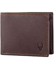 WildHorn® RFID Protected Genuine High Quality Leather Wallet for Men (BROWN)