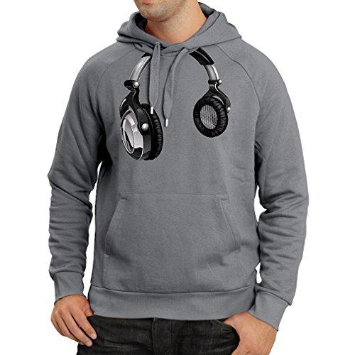 Felpa con cappuccio for Music Lovers - DJ Gift, retro music, electronics, headphone print Grafite Multicolore