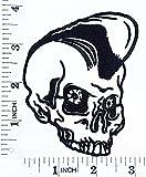 Totenkopf Ghost Mohawk Old School Skool Rockabilly Punk Rocks Motorrad Patch Hand bestickt und Bügelbild Symbol Jacke T-Shirt patches aufnäher Zubehör