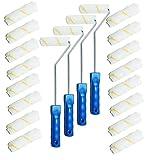 120x Farbrolle Farbwalze 10 cm Gelbfaden Malerwalze + 4x Maler Bügel 41 cm 6mm