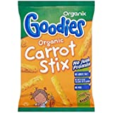 Organix Golosinas Orgánicos Zanahoria Stix 12Mth + (15g) (Paquete de 2)