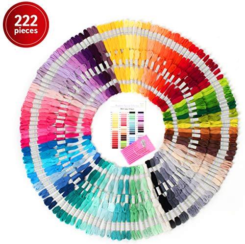Premium Sticktwist Mega Pack - Freundschaft Armbänder Floss - Kreuzstich Threads, Crafts Floss - 210 Floss Garnknäuel Pro Kärtchen, jeweils frei Set von Hoher Qualität Sticknadeln -