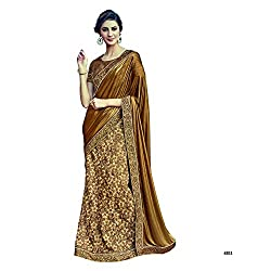 fc085a00138 Mahotsav Party   Wedding Wear Beige Color Unstitched Lehenga Saree